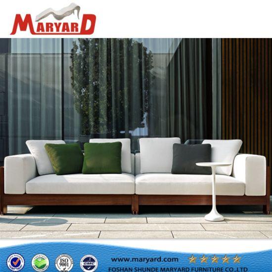 Luxury Modern Design Wooden Outdoor Furniture Teak Sofa
