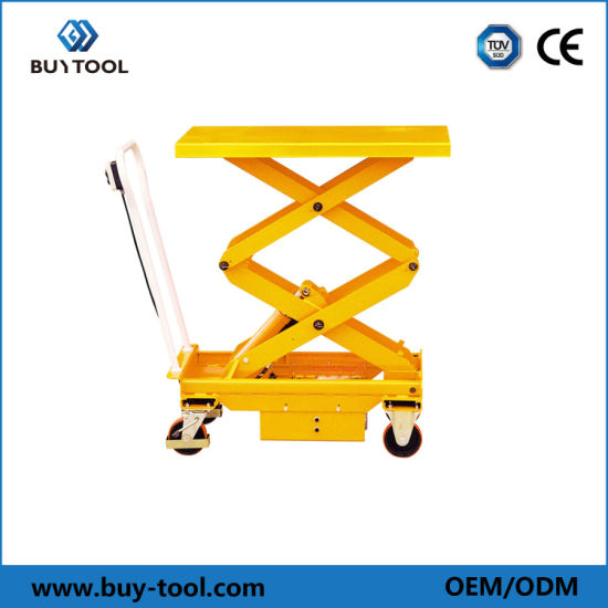 Mobile Electric Hydraulic Scissor Lift Table for Carrying Cargo / Feeding Platform