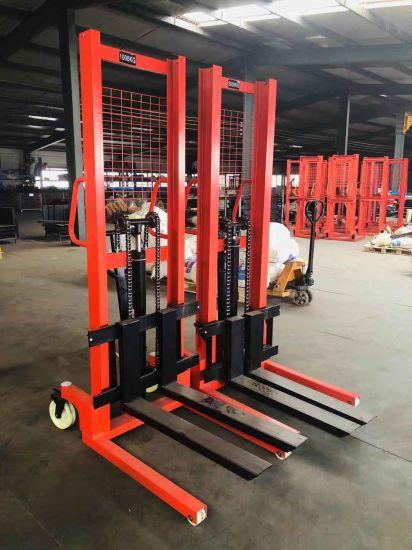 Manual Hydraulic Stakcer Portable Hand Forklift 2000kg 3000kg