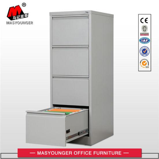 Metal 4 Drawer Vertical Open Metal Steel Office Furniture Storage Filing Cabinet