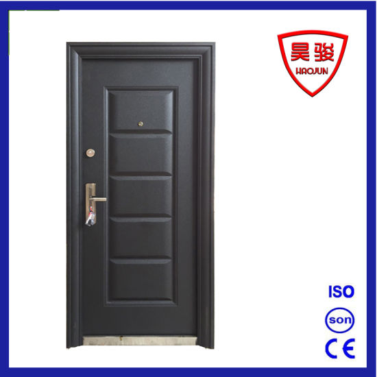 Black Steel Security Entry Apartment Safety Exterior Door