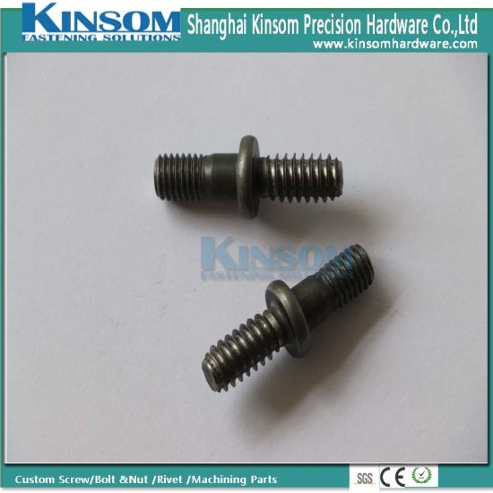 Special Double Head Bolt with Machine and Tapping Thread