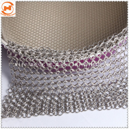 Stainless Steel Chainmail Iron Cast Scrubber