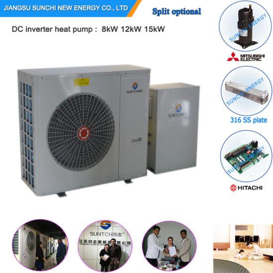 Greece /Albania -20c Winter Floor / Radaitor Heating 100~350sq Meter Room12kw/19kw/35kw No Ice Evi Air to Water Heat Pump Heater