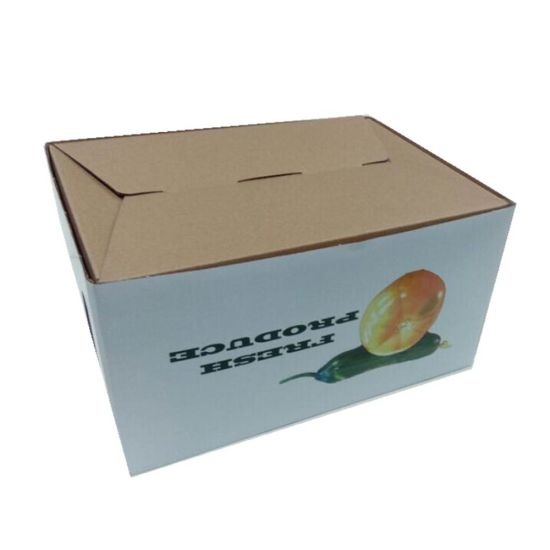 Lid and Bottom Structure Custom Made Fruit Carton Box Apples pictures & photos