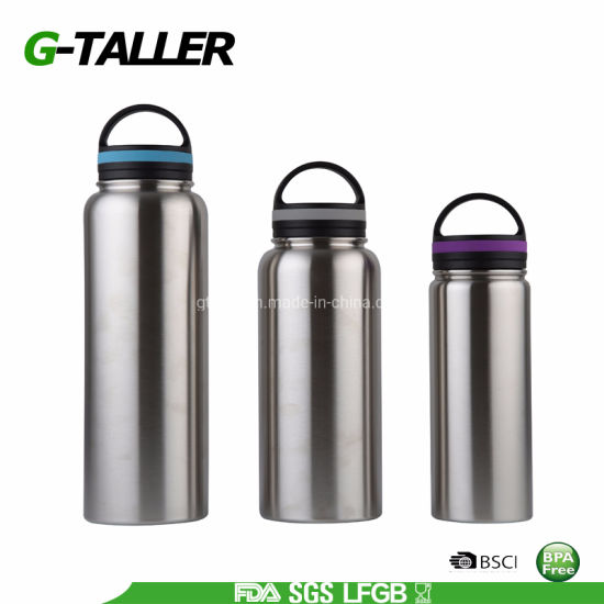 Food Grade 32 Oz Stainless Steel Large Insulated BPA Free Water Bottle
