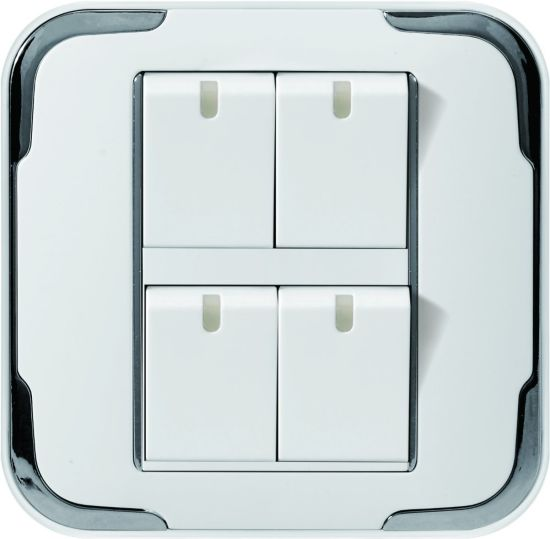Zb Four Open Wall Switch Socket White
