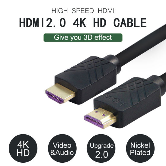 Ycom HDMI Cable, Supports 4K, HD Male to Male Gold-Plated Connectors 10m pictures & photos