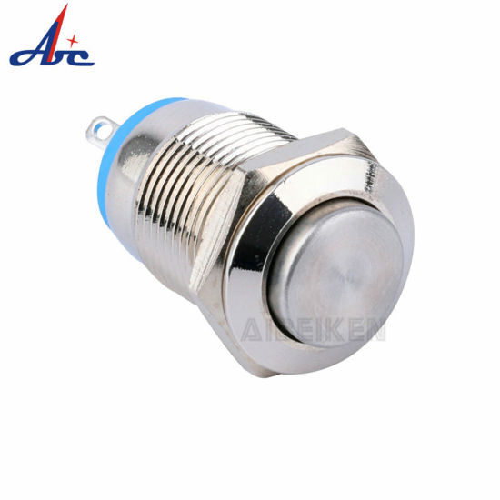 Momentary Normally Open Metal Mini 12mm Push Button Switch