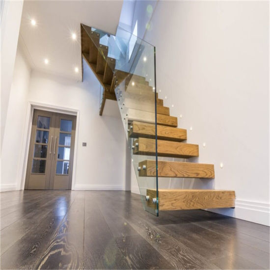 China Steel Structure Staircase Glass Floating Cantilever
