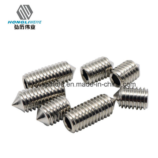 China Stainless Steel Hexagon Socket Set Screw with Cone