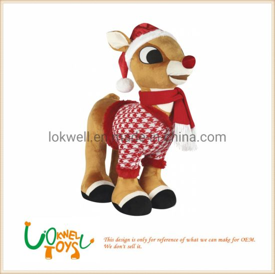 Reindeer Rudolph Christmas Plush Animal Toys Christmas Gift pictures & photos