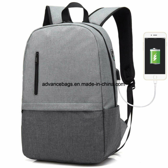 Waterproof Anti-theft Men Women Laptop Backpack Travel School Bag USB Port Bag