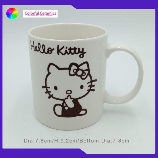 Personalized Coffee Mugs Straight Ceramic Milk Cup White Mug with Silkscreen
