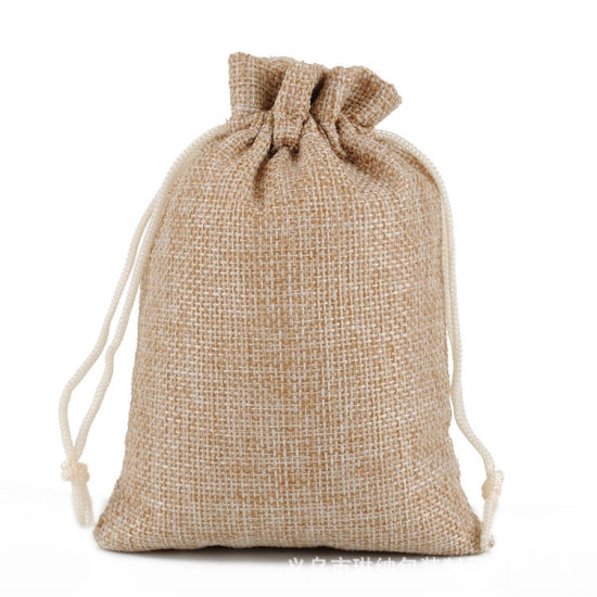 China Manufacture Jute and Linen Fabric Shopping Bag Linen Tote Bag