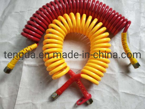 China Flexible High Pressure Nylon Truck Air Lines Curly Hose Pipe
