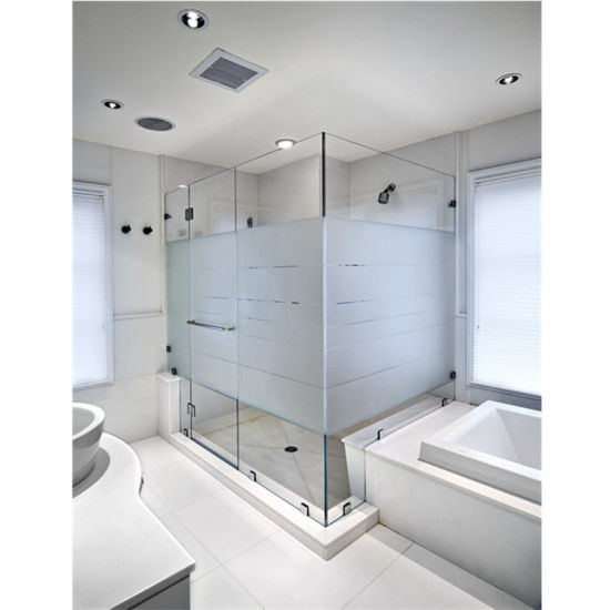 Sliding Tempered Glass Shower Door, Glass Bathroom Partition Walls