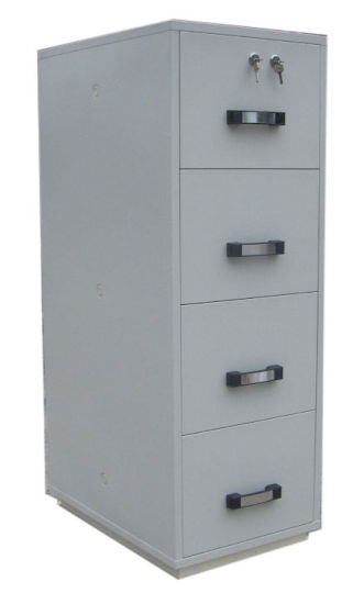 Fireproof Filing Cabinet, 4 Drawers Vertical Cabinets (UL824FRD II 4002)