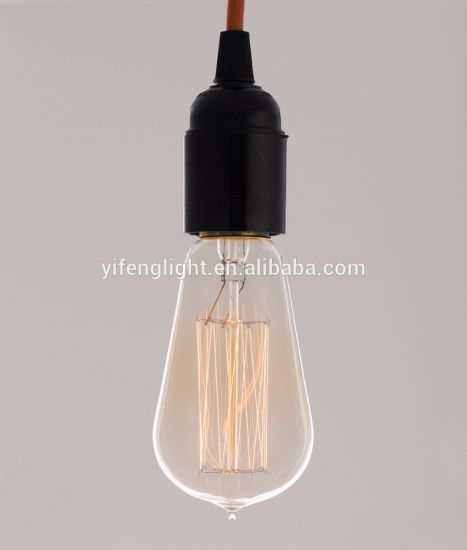 Squirrel Cage Filament Lamp (old fashioned Edison) Screw Teardrop Top pictures & photos