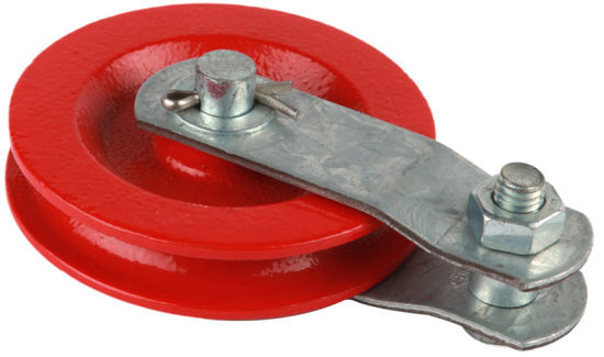 "3-1/2"" Red Cast Pulley (#131210)"