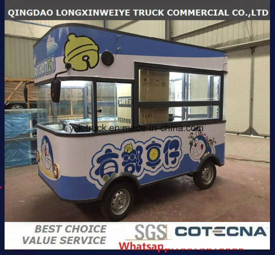 Professional Food Cart and Van Vintage Mobile Food Electric Truck