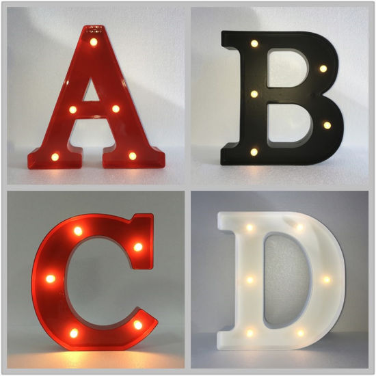 China Led Giant Letter Metal Stage Lights For Hire Wedding Party