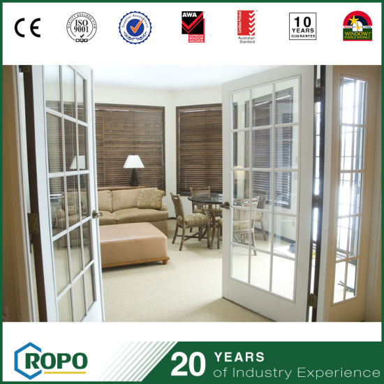 China Double Panel Storm Proof Pvc Residential French Door With