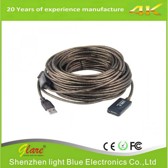 USB Active Repeater Extension Cable 30m pictures & photos