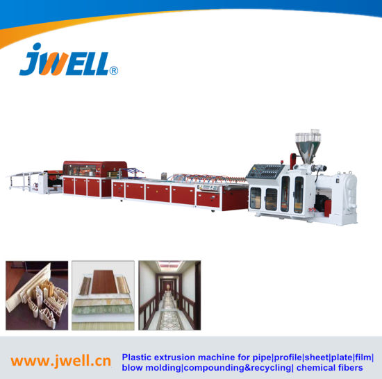 China Wholesale Plastic Twin Double Screw Extruder PVC Wall Ceiling Panel Profile Extruder Making Machine