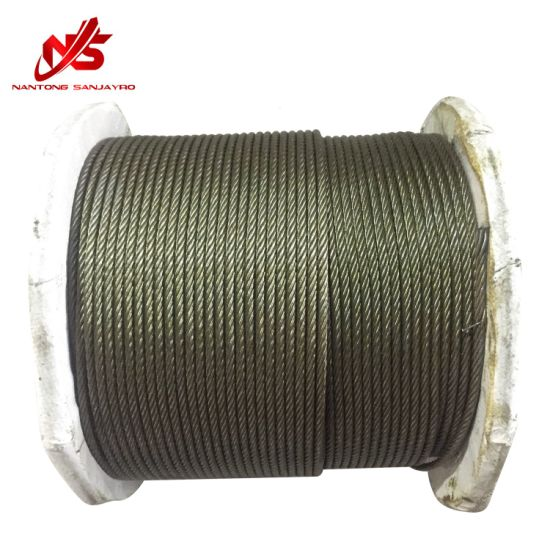 Ungalvanized Compacted Steel Wire Rope 4vx39s+5FC pictures & photos