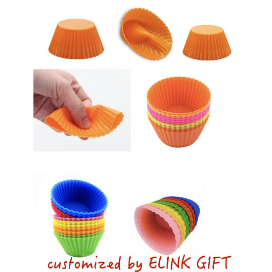 Wholesale Price Non Sticky 7cm Silicone Muffin Cup Round Cake Cup Small Cake Mold