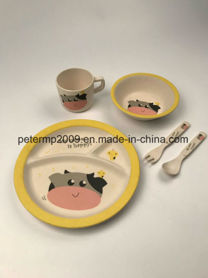 Great Brand Children Dinnerware 5PCS Bamboo Fiber Baby Feeding Tableware Set Eco Plate Set for Kids & China Great Brand Children Dinnerware 5PCS Bamboo Fiber Baby Feeding ...