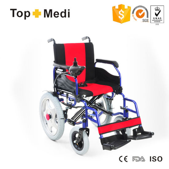 Health Medical New Product Cheap Price Foldable Folding Power Electric Wheelchair pictures & photos