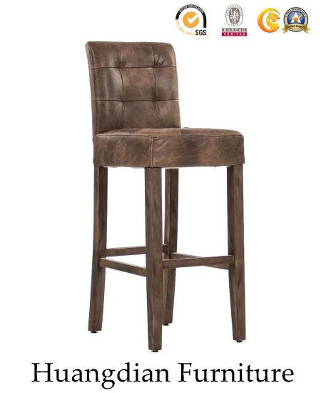 Pub Furniture Antique Leather Bar Chair