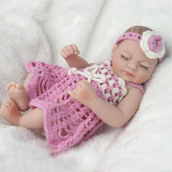 28cm Lifelike Silicone Reborn Dolls Baby for Girls Gifts