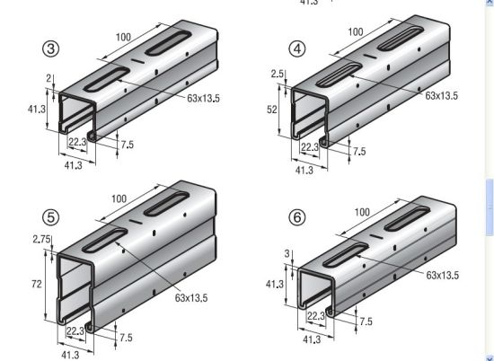 China Professional OEM Support Steel Strut System Gi C Channel Sizes