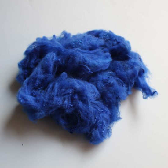 100% Recycled Solid Polyester Staple Fiber Price pictures & photos