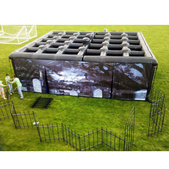 Outdoor Sports Game Inflatable Labyrinth Halloween Hounted Maze pictures & photos