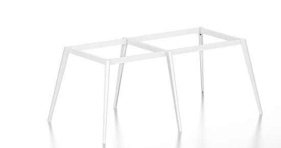 China White Customized Metal Steel Office Conference Table Leg With - Metal conference table legs