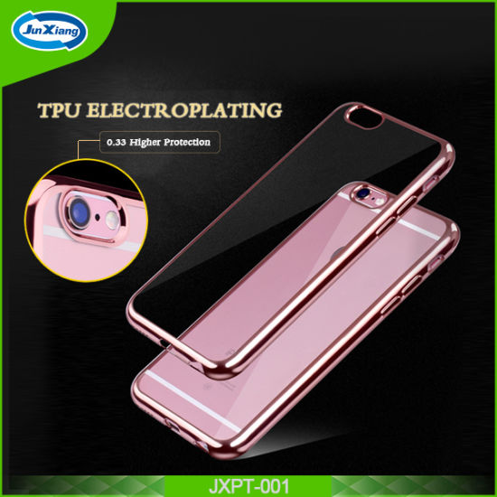 China Electroplating Frame Clear Back Tpu Cell Phone Cases Cover For