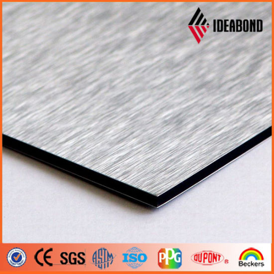 Silver Brush Aluminium Decorative Wall Panels (IDEABOND) pictures & photos