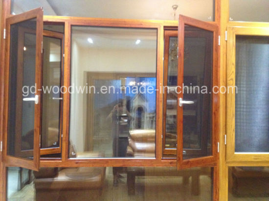 Heat Insulation Casement Window with Mosquito Net pictures & photos