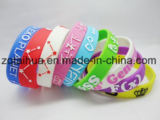 Colorful Lovely Swirl Silicone Wristband with Thb-052 pictures & photos