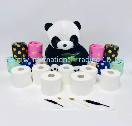 Gift Custom Wrap Exquisite Printing Toilet Paper Tissue/Paper Rolls