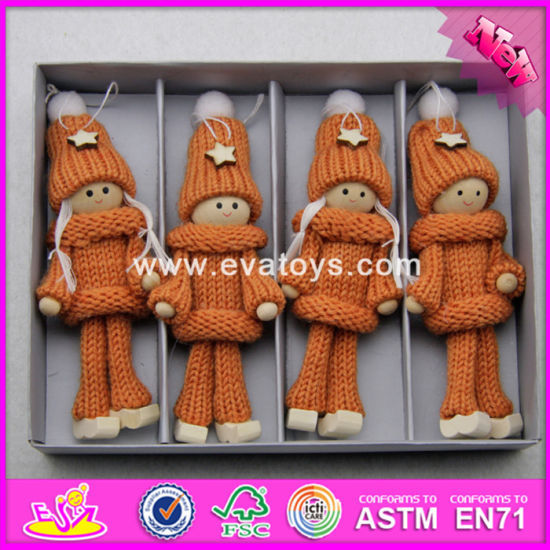 2017 New Products Christmas Wearing Warming Wooden Doll Making Supplies W02A245 pictures & photos