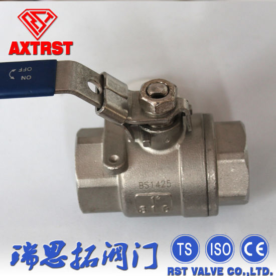 1000wog Ss/Carbon Steel 2PC Type Ball Valve BSPT/NPT/BSPP/DIN2999 pictures & photos