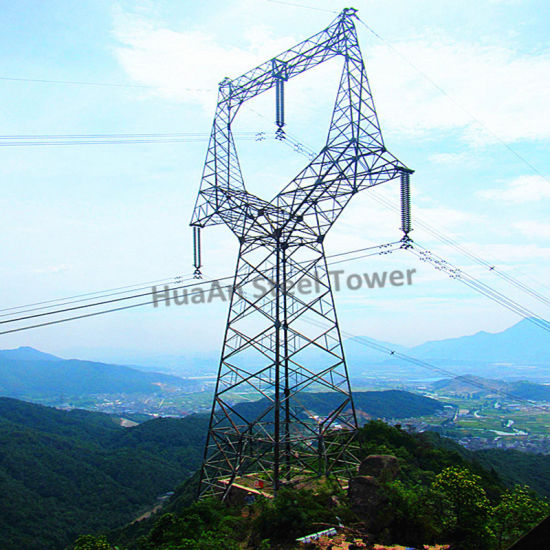 Electric Power Transmission Extreme High Voltage 1100kv Galvanized Angular Steel Tower pictures & photos
