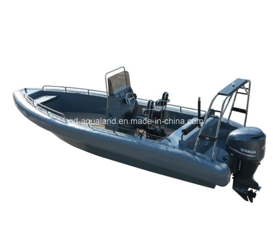 Aqualand 26feet 8m Non-Air Filled Tube Rib Rescue Patrol /EVA Soliad Foam Fender Rigid Inflatable Motor Boat (rib800) pictures & photos