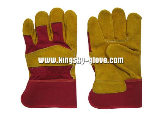 Cow Split Leather Palm Work Glove-3080