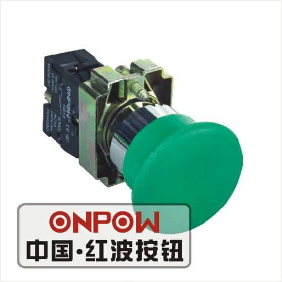 Onpow 22mm Mushroom Pushbutton Switch (HBY5-11M/G, CE, CCC, CB, RoHS)